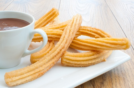 churros: Churros and chocolate