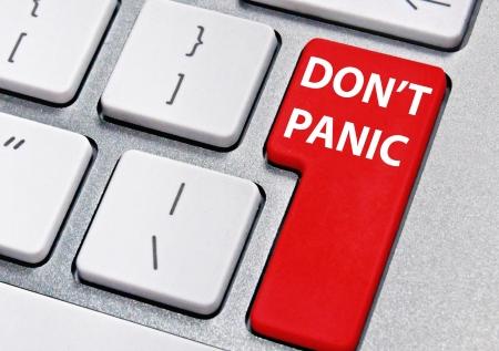 panic button: Don t panic Stock Photo