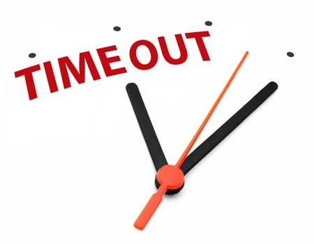 out time: Time out  Stock Photo