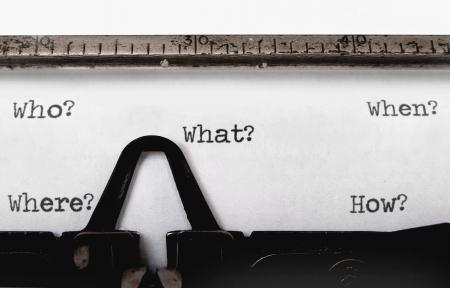 typewriter: ¿Quién, qué, cuándo