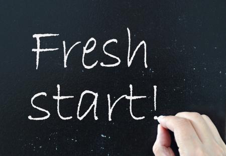 start fresh: Fresh start