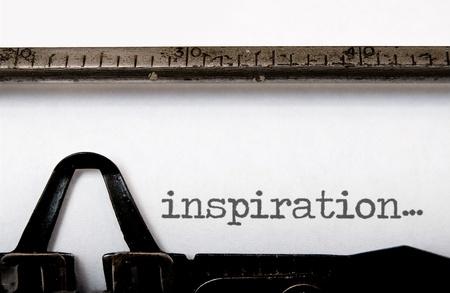 creative writer: Inspiration