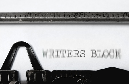 Writers block  Stock Photo - 15377374
