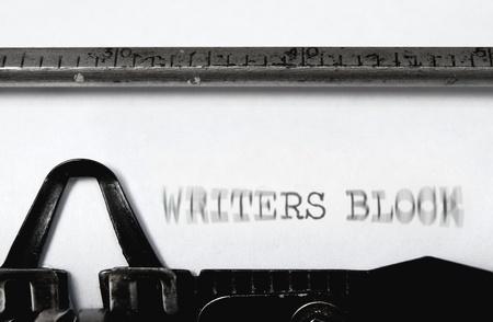 writer's block: Writers block