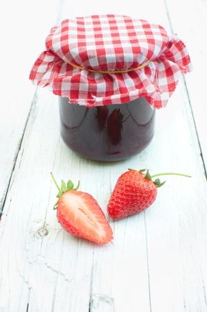 Strawberry jam Stock Photo - 15580345