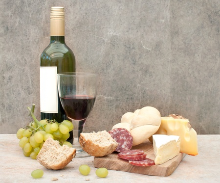 Cheese and wine  Stock Photo - 15713084