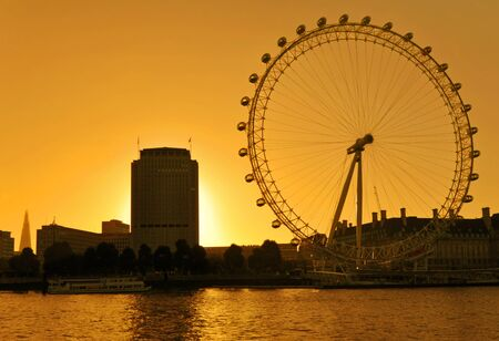 The London Eye, otherwise known as the Millennium Wheel, is a key landmark along the River Thames Stock Photo - 15745027