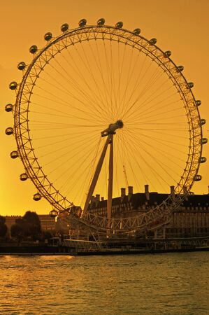 The London Eye, otherwise known as the Millennium Wheel, is a key landmark along the River Thames   Photo taken on the 4th October 12 Stock Photo - 15700211