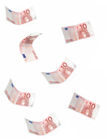 Falling euro banknotes Stock Photo - 15998063
