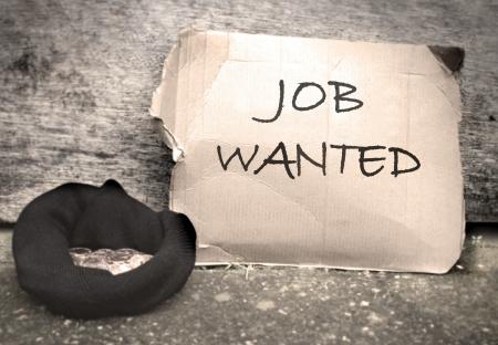 Job wanted sign  Stock Photo - 16233717