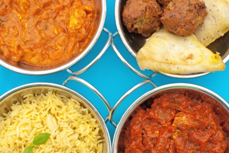 Curry dishes Stock Photo - 16401318