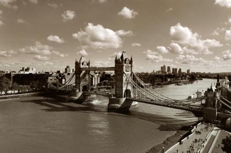 black bridge: Tower Bridge, London