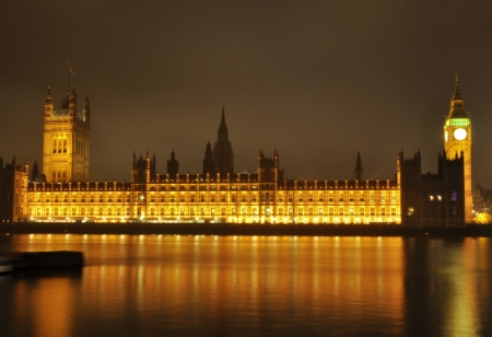 houses of parliament: London  Stock Photo