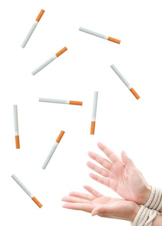 Cigarette addiction Stock Photo - 16492227