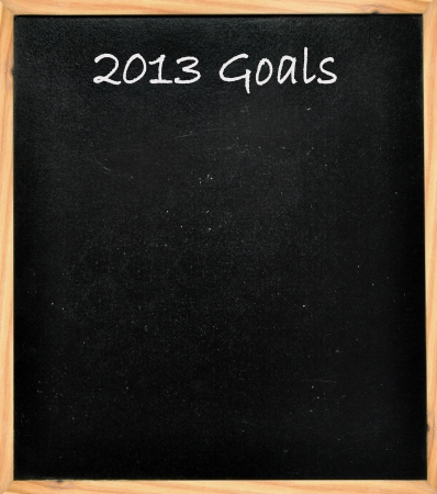 2013 goals  Stock Photo - 16604197