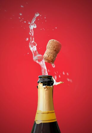 Champagne bottle opening Stock Photo - 16604125