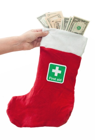 charitable: Christmas donation Stock Photo
