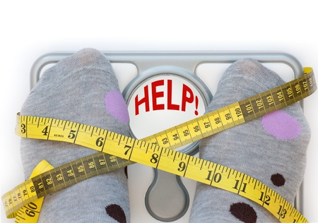 weight gain: Weighing scales