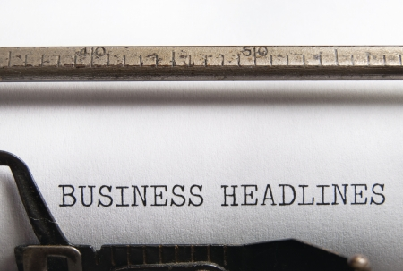 Business headlines  Stock Photo - 17429315