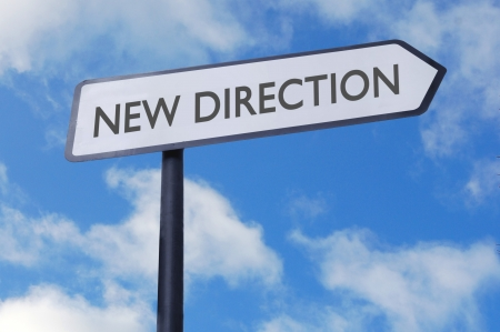 new direction: New direction sign