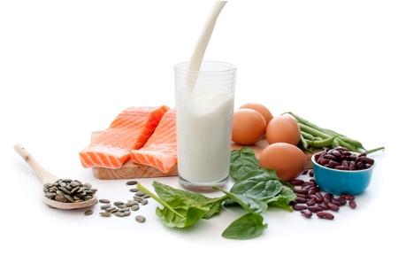 タンパク質が豊富な食品 写真素材
