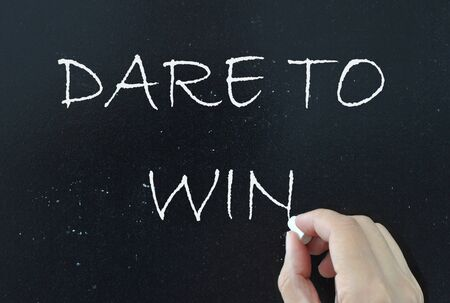 Dare to win  Stock Photo