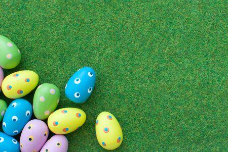 easter egg hunt: Easter eggs  Stock Photo