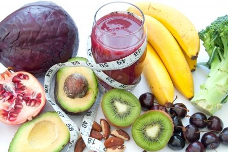 superfood: Fruit and veg detox diet  Stock Photo