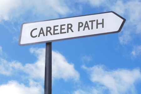 Career path street sign photo