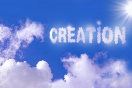 word of god: Creation concept