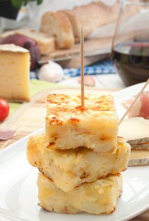 omelette: Spanish omelette  Stock Photo