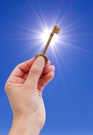 llave de sol: La clave del ?xito Foto de archivo
