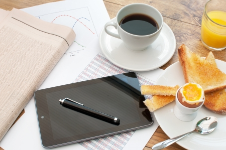 meeting table: Business breakfast