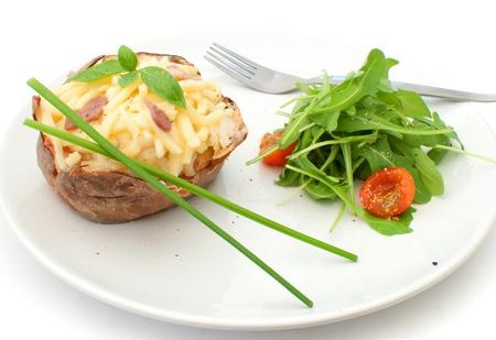 Baked potato with salad