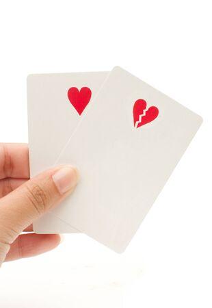 risky love: Love gamble Stock Photo