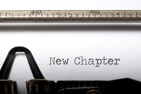 new beginning: New chapter  Stock Photo
