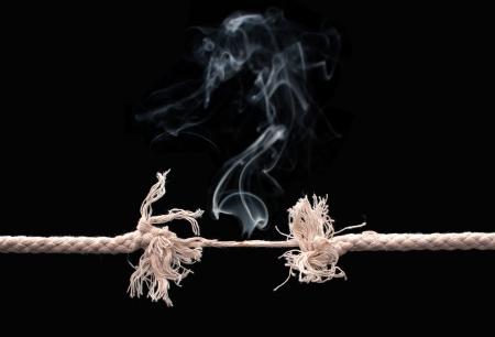 Breaking Seil Standard-Bild