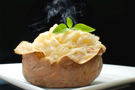 Hot oven cooked jacket potato
