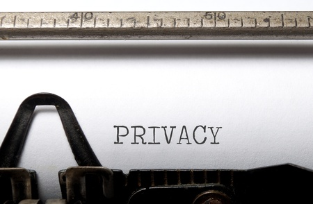 プライバシー 写真素材