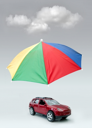 brolly: Del seguro de coche Foto de archivo