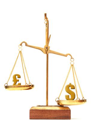 outweigh: Pound versus the dollar