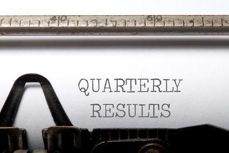 quarterly: Quarterly results