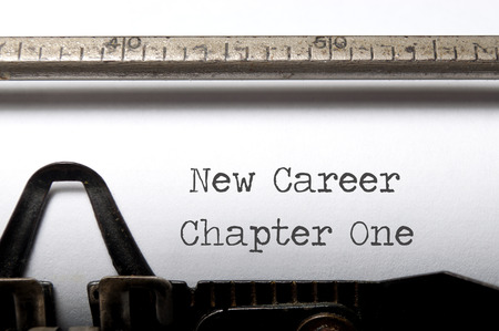 typewriter: New career, new start concept