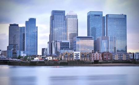 wharf: Canary Wharf skyline