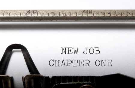 chapter: New job, chapter one Stock Photo