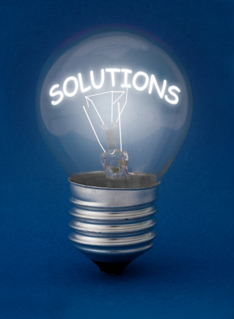 troubleshoot: Solutions  Stock Photo