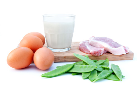 Protein rich food diet  Stock Photo
