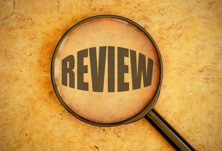 business review: Review  Stock Photo