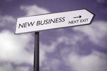 entrepreneurial: New business  Stock Photo