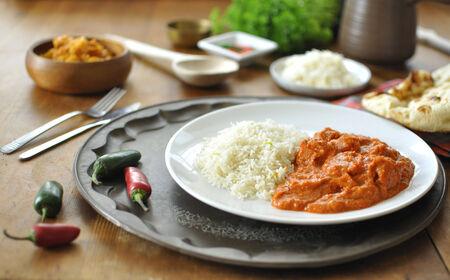 chicken rice: Chicken curry